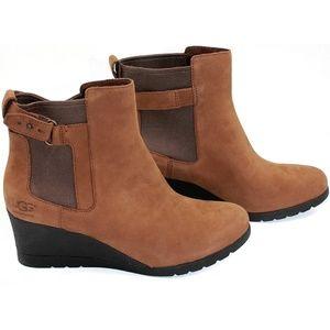 UGG Shoes - UGG Indra Womens Waterproof Wedge Heel Boots Sz8.5